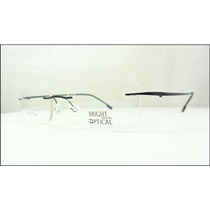 Armação Óculos De Grau Preta Feita De Titanium Sem Aro A437