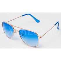 Óculos De Sol Infantil Estilo Ray-ban Aviador