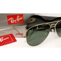 Óculos De Sol Ray Ban 3025 Dourado Lente Verde