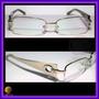 Óculos De Grau, Armação, Aro Prata, Haste Pérola Cd3221