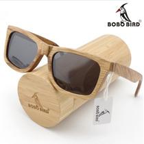 Óculos De Sol Madeira/bambu Marca Bobobird