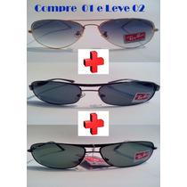 Óculos De Sol Aviador (pague 01- Leve 02) Demolidor + Brinde
