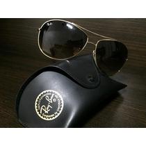 Óculos Solar Ray Ban Original Modelo 3454 L Armação Dourada