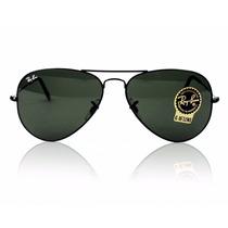 Óculos Ray Ban Aviador Preto Rb3026 Original + Brinde