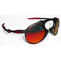 Oculos Madman Black Red Elite Force Ferrari Lente Fire Red