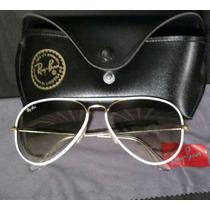 Óculos Ray Ban Aviador Full Collor Branco
