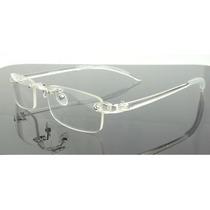 Armação Oculos De Grau Transparente Sem Aro Discreta - A776