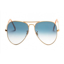 Oculos Ray Ban Aviador Rb 3026 62mm Lentes Azul Original