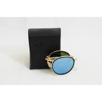 Óculos Ray Ban Round Dobrável Rb 3517 - Azul Espelhado