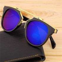 Óculos De Sol Escuro Retrô Colorido Masculino Feminino