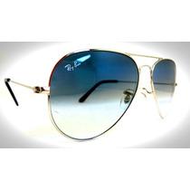 Oculos Ray Ban Original Dourado/ Prata Azul Degrade