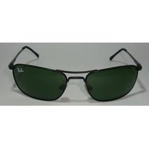 Oculos De Sol 3132 Demolidor Preto Grafitado Lentes Verdes