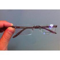 Óculos Porche Desing Sem Aro Marrom