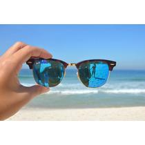 Oculos Ray Ban Clubmaster Espelhado Ou Crystal Sedex Gratis