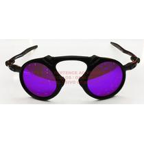 Oculos Madman Black Fosco Lente Violeta Polarizada Uv/uva 40