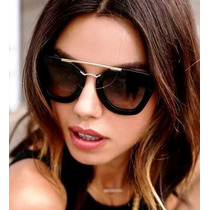 Oculos De Sol Geometric Feminino + Case Personalizada
