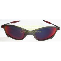 Oculos Juliete X Metal Lente Dark Rubi Polarizada Uv/uva400