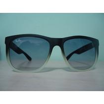 Oculos De Sol Wayfarer 4165 Preto Fosco Transparente Ddê