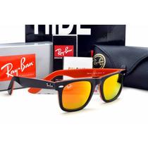 Óculos De Sol Rayban Wayfarer 2140 Espelhado Oferta 50% Off