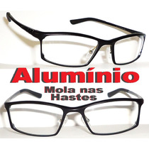 Armação Alumínio Para Óculos De Grau Preto Mod. Exclusivo 01