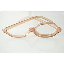 Óculos De Maquiagem Flip Marrom Com Estojo Lente +2,50.lindo