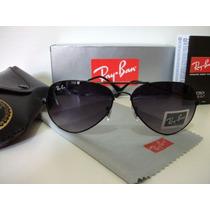 Óculos De Sol Ray Ban 3025 Preto Lente Cinza Degradê