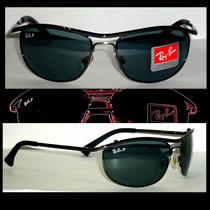 Óculos Aviador 8012 Grafite Lentes Verdes Polarizado