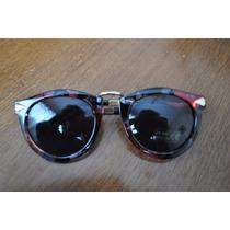 Óculos De Sol Feminino Redondinho Florido