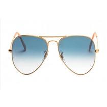 Oculos Ray Ban Aviador 3026 62mm Lentes Azul Original