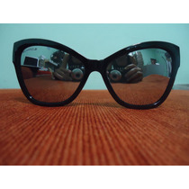 Oculos De Sol 5271 Modelo Gatinha Preto Lentes Espelhada