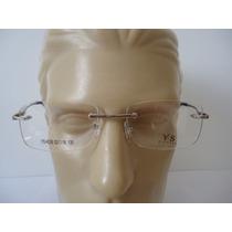 Armação P Óculos De Grau Masculina Ys 4036 Metal Prata