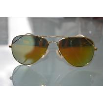 Óculos Aviador P/ Passeios Fem Masc Lindo Laranja Moda