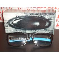 Armação Oculos De Grau Modelo Muffler Azul E Preta Exclusiva
