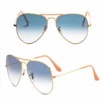 Oculos De Sol Aviador Rayban Rb 3025 Azul Degrade Original