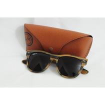 Óculos Ray Ban Justin Rb4165 Armação Madeira Envelhecida