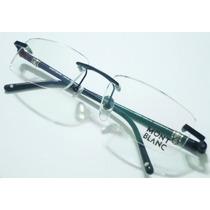 Armação Oculos Grau Modelo Mb89 Preta E Cinza Sem Aro Linda