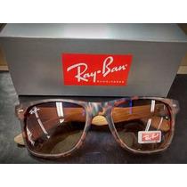 Oculos Rayban Bamboo Tartaruga - Lentes 100% Polarizadas