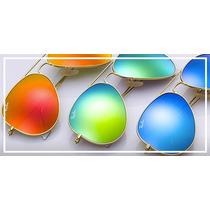 Óculos De Sol Ray-ban 3025 Lentes Espelhadas Unissex Dourado