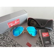 Aviador Rb 3025 3026 Azul Espelhado Cristal Óculos Rayba