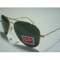 Ray Ban 3026 Aviador Dourado Lente Verde G15