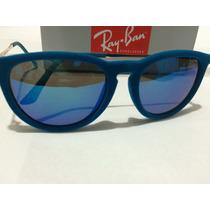 Óculos De Sol Rayban Erika Azul Claro Feminino