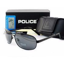 Óculos De Sol Polarizado Police 100% Uva E Uvb Masculino