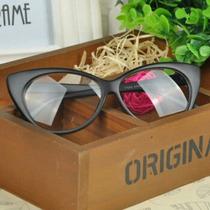 Óculos Com Simples Armação, Modelo Olho De Gato.