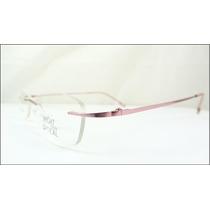 Armação Óculos De Grau Rosa Sem Aro Feita De Titanium A540