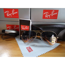 Ray Ban 3026 Large Metal Lente Azul Degrade Grande Original