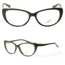 Armação Óculos De Grau Olho De Gato (marrom)