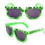 Óculos Pixel Minecraft Pixels Nerd Geek Verde