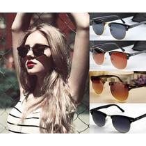 Óculos De Sol Feminino Retrô Estilo Clubmaster Uv 400