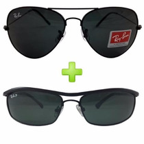 Óculos Ray Ban Masculino Compre Aviador E Ganhe Demolidor