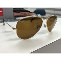 Oculos Ray Ban Rb 3025 Aviator Large Metal 001/33 55 Origina